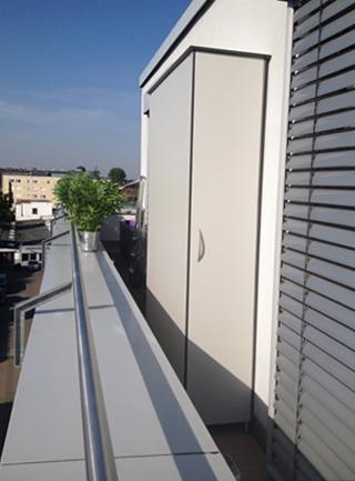 HPL-Terrassenschrank für Dachterrasse