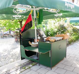 Kassenstation für Biergarten