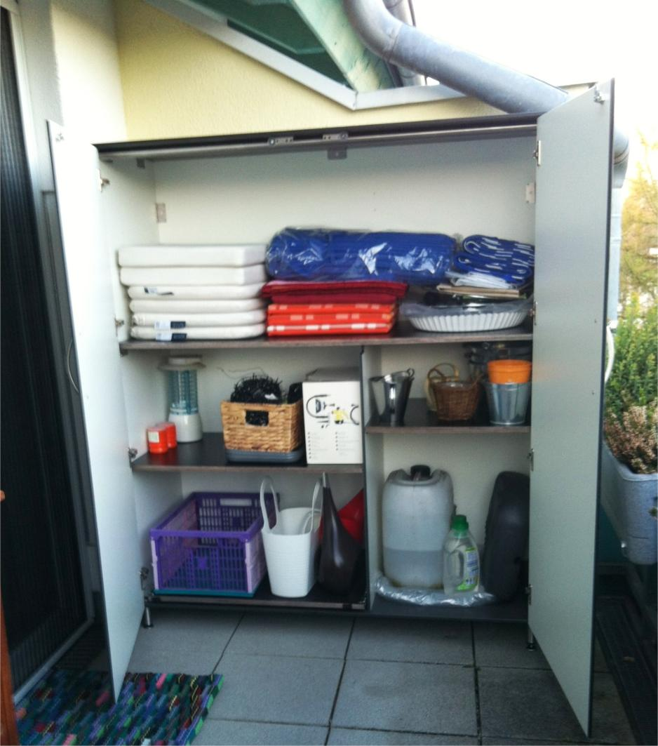 Terrassenschrank wetterfest für Dachterrasse