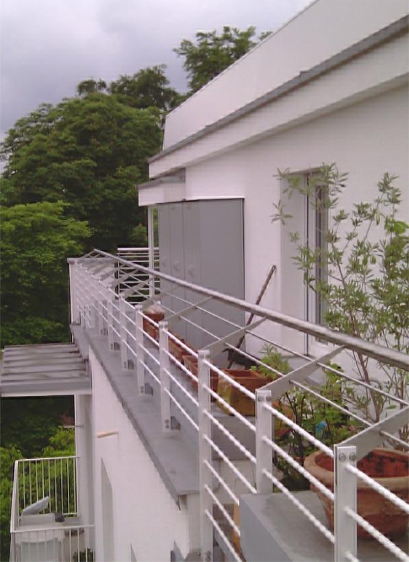 Terrassenschrank witterungsbeständig auf Dachterrasse in Bogenhausen