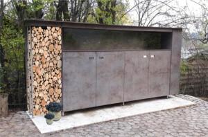 Gartenschrank und Holzregal