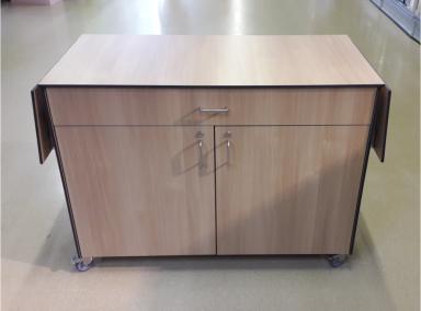 HPL-Sideboard mit schwenkbaren Anbautischen