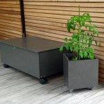 HPL-Outdoor Roller und Pflanztröge nach Maß