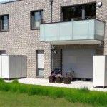 Abtrennung für Terrasse und Balkon mit Stauraum - Gartenschrank witterungsbeständig