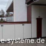 Terrassenschrank mit angebautem Sideboard